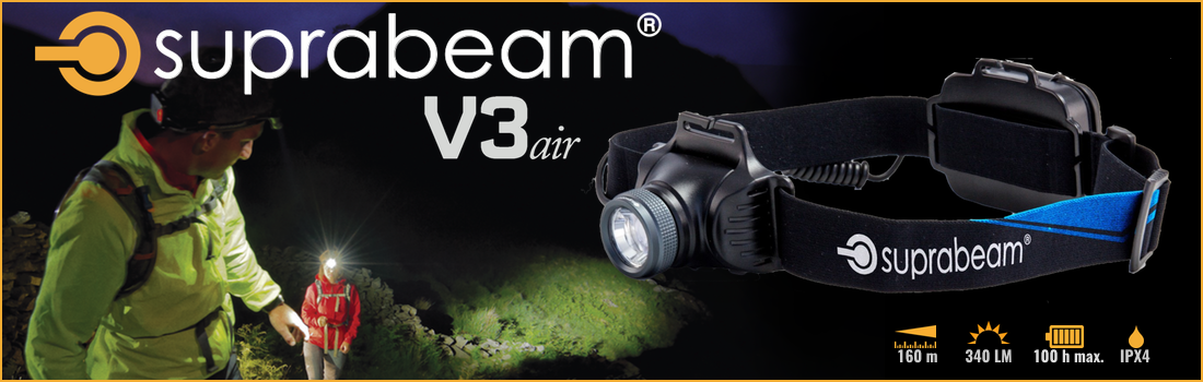Lampe frontale V3 by Suprabeam