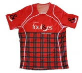 T-SHIRT RUNNING Foul&es HOMME Rouge